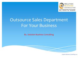 Outsource Sales Department For Your Business