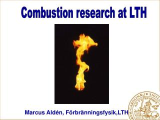 Combustion research at LTH