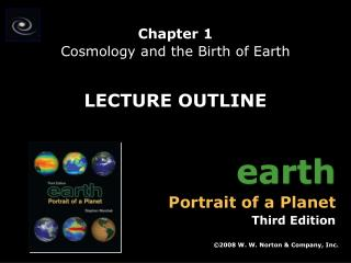 Chapter 1 Cosmology and the Birth of Earth