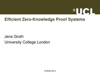 Efficient Zero-Knowledge Proof Systems