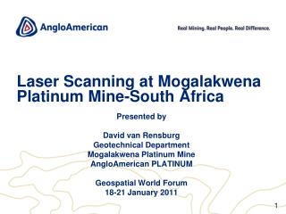 Laser Scanning at Mogalakwena  Platinum Mine-South Africa
