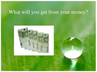 What will you get from your money?