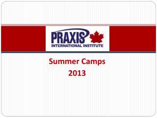 Summer Camps 2013