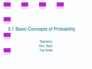 3.1 Basic Concepts of Probability