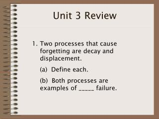 Unit 3 Review