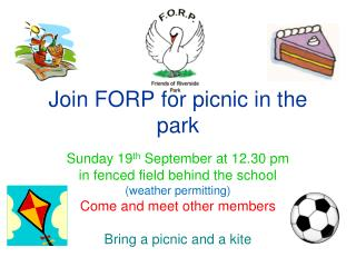 Join FORP for picnic in the park