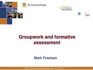 Groupwork and formative assessment