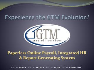 Experience the GTM Evolution !