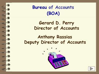 Bureau  of Accounts