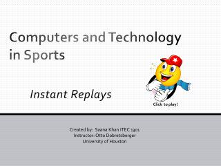 Computers and Technology in Sports
