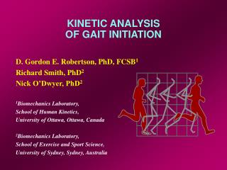 KINETIC ANALYSIS OF GAIT INITIATION
