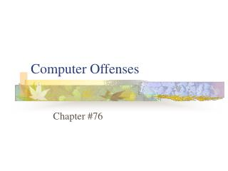 Computer Offenses