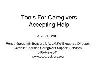 Tools For Caregivers Accepting Help