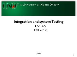 Integration and system Testing
