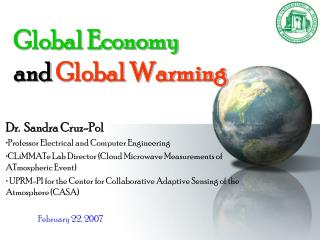 Global Economy  and  Global Warming