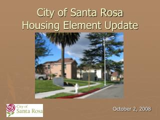City of Santa Rosa  Housing Element Update