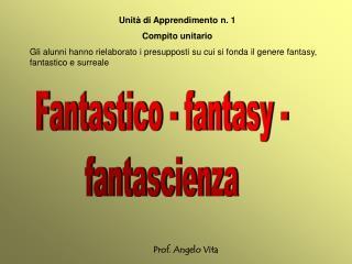 Fantastico - fantasy - fantascienza