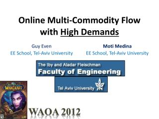 Online Multi-Commodity Flow with  High Demands