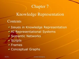 Chapter 7 Knowledge Representation