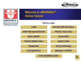 Welcome to  e BRANDkit™ Online Tutorial