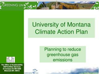 University of Montana Climate Action Plan