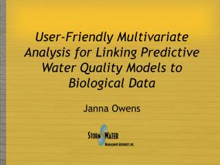 User-Friendly Multivariate Analysis for Linking Predictive Water Quality Models to Biological Data