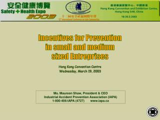 Incentives for Prevention in small and medium sized Entreprises