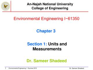 Environmental Engineering I−61350