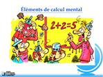 l ments de calcul mental
