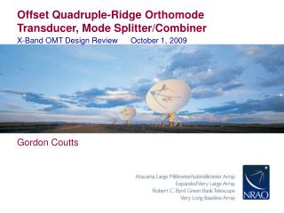Offset Quadruple-Ridge Orthomode Transducer, Mode Splitter/Combiner