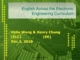 English Across the Electronic Engineering Curriculum