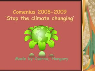Comenius 2008-2009 'Stop the climate changing '
