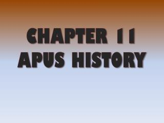 CHAPTER 11 APUS HISTORY