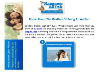 Know About The Realties Of Being An Au Pair