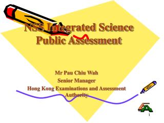 NSS  Integrated  Science Public Assessment