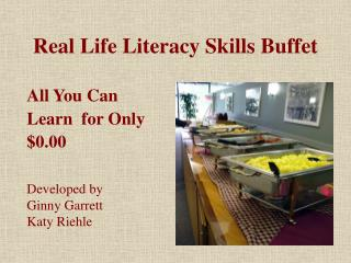 Real Life Literacy Skills Buffet