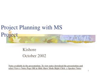 Project Planning with MS Project
