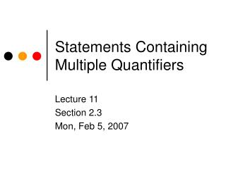 Statements Containing Multiple Quantifiers