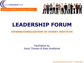 Leadership Forum Internationalisation of Sydney Institute