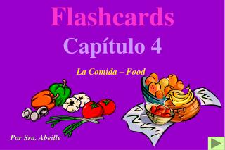 Flashcards Capítulo 4