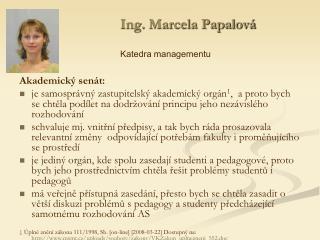 Ing. Marcela Papalová
