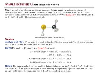 SAMPLE EXERCISE 7.1 Bond Lengths in a Molecule