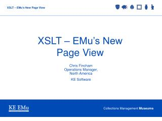 XSLT – EMu's New Page View