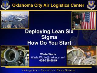 Deploying Lean Six Sigma How Do You Start