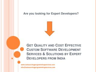 Custom Software Development Company in India