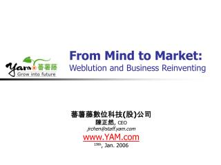 From Mind to Market: Weblution and Business Reinventing