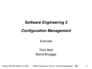 Software Engineering 2 Configuration Management