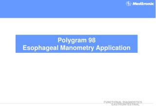 Polygram 98  Esophageal Manometry Application