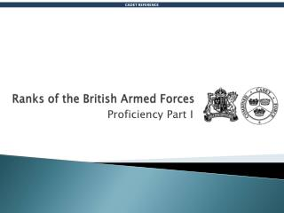 Ranks of the British Armed Forces