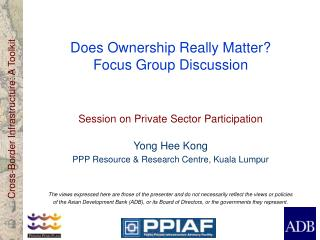 Does Ownership Really Matter? Focus Group Discussion